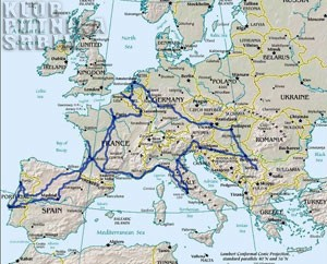 map of europe trip
